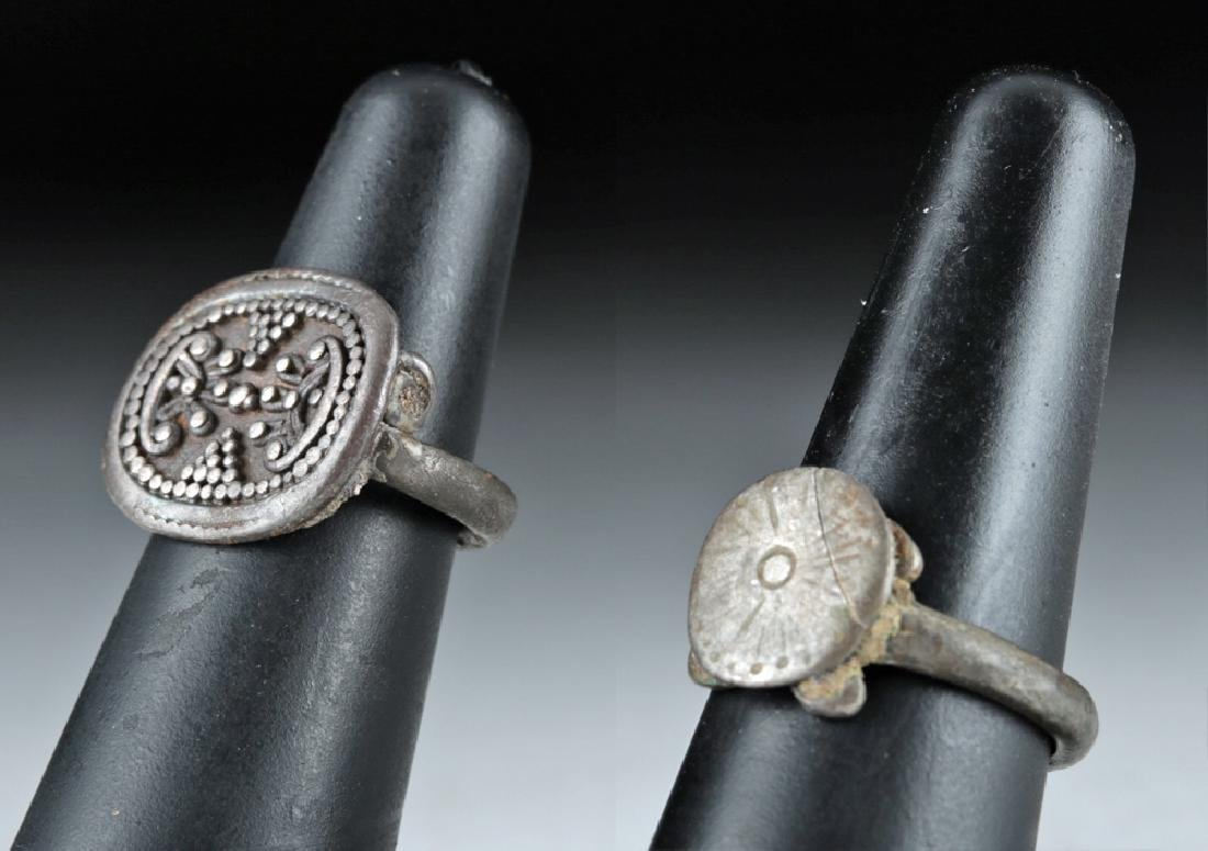 Pair of Phoenician Silver Finger Rings, ex-Christie's