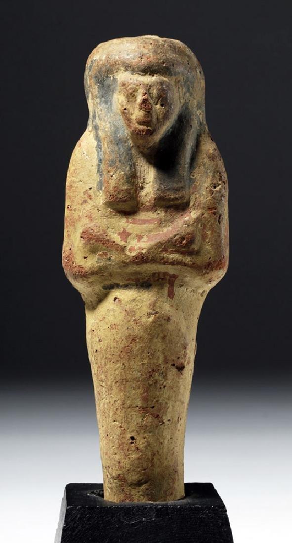 Rare Egyptian Polychrome Terracotta Ushabti