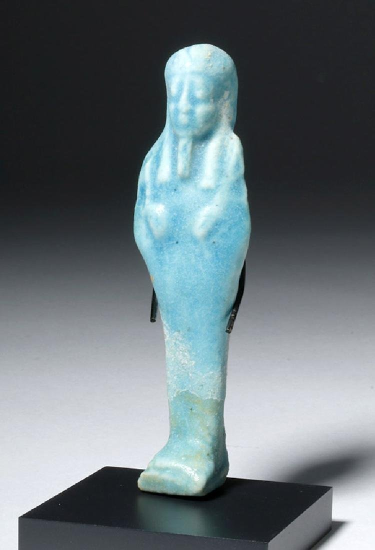 Egyptian Blue Glazed Faience Ushabti
