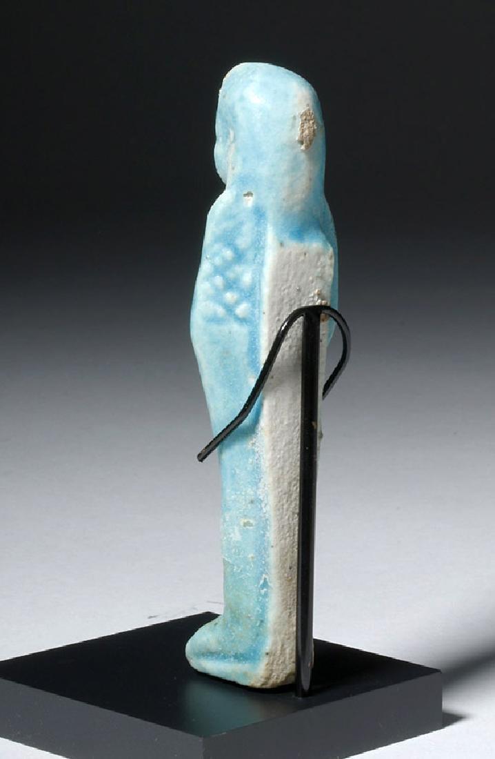 Egyptian Blue Glazed Faience Ushabti - 2