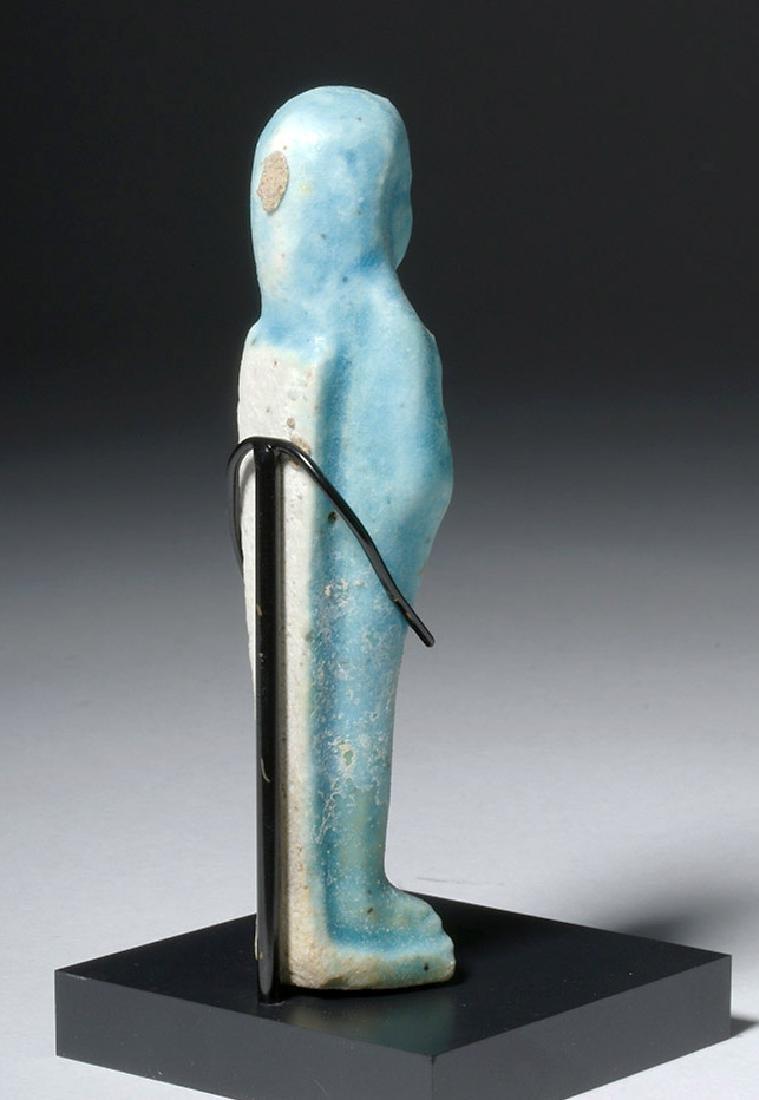 Egyptian Blue Glazed Faience Ushabti - 3