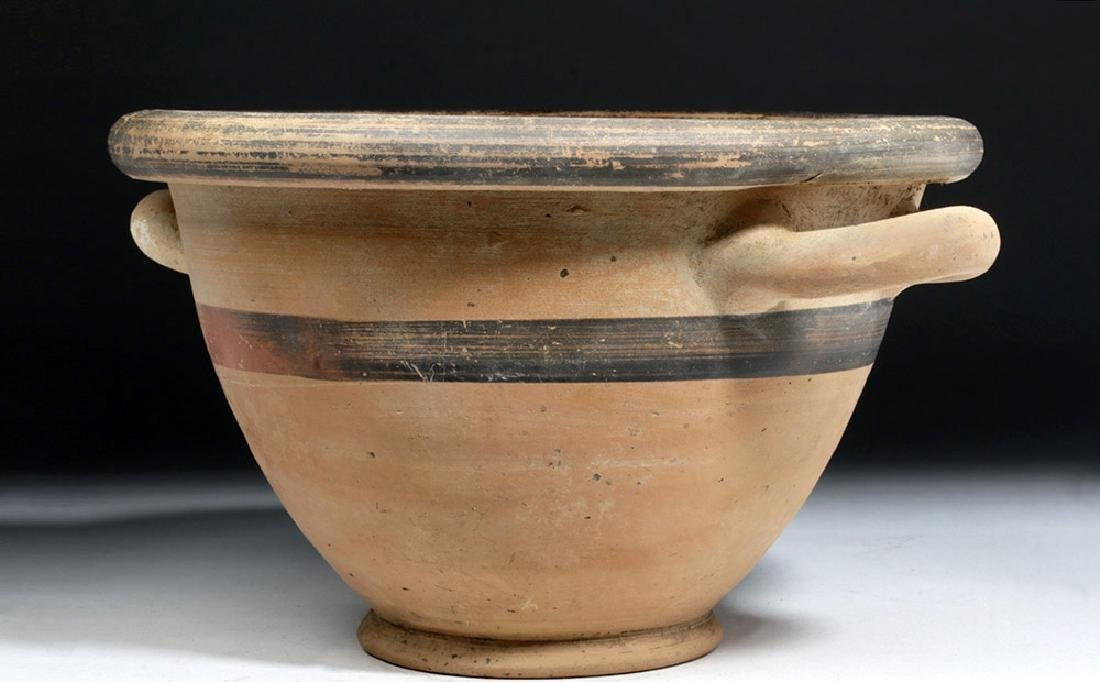 Greek Ionian Twin-Handled Pottery Bowl - 2