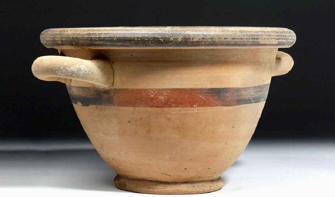 Greek Ionian Twin-Handled Pottery Bowl - 3
