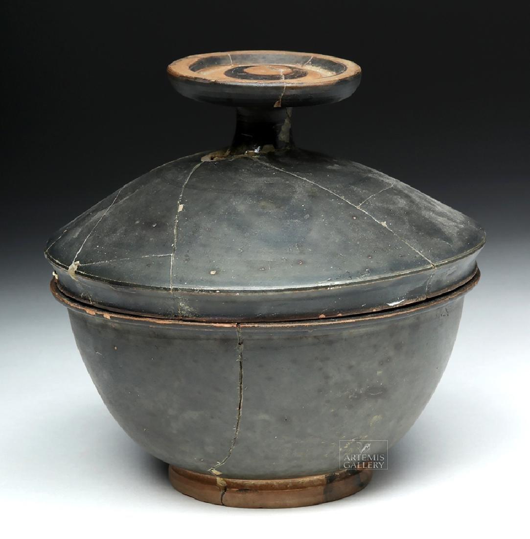 Greek Campanian Blackware Pyxis