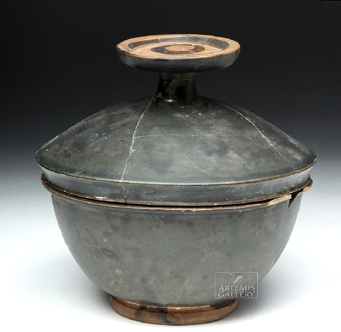 Greek Campanian Blackware Pyxis - 2
