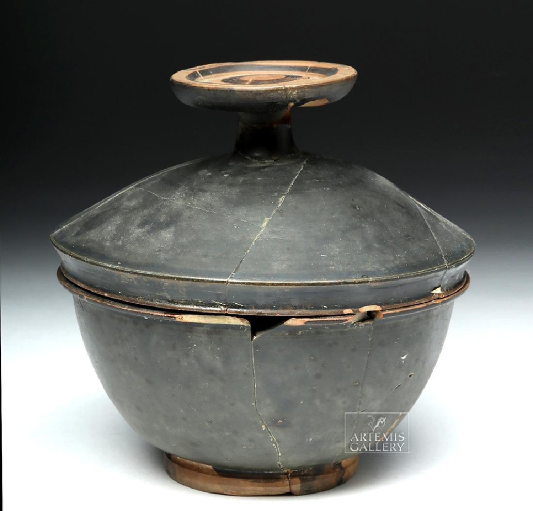 Greek Campanian Blackware Pyxis - 3