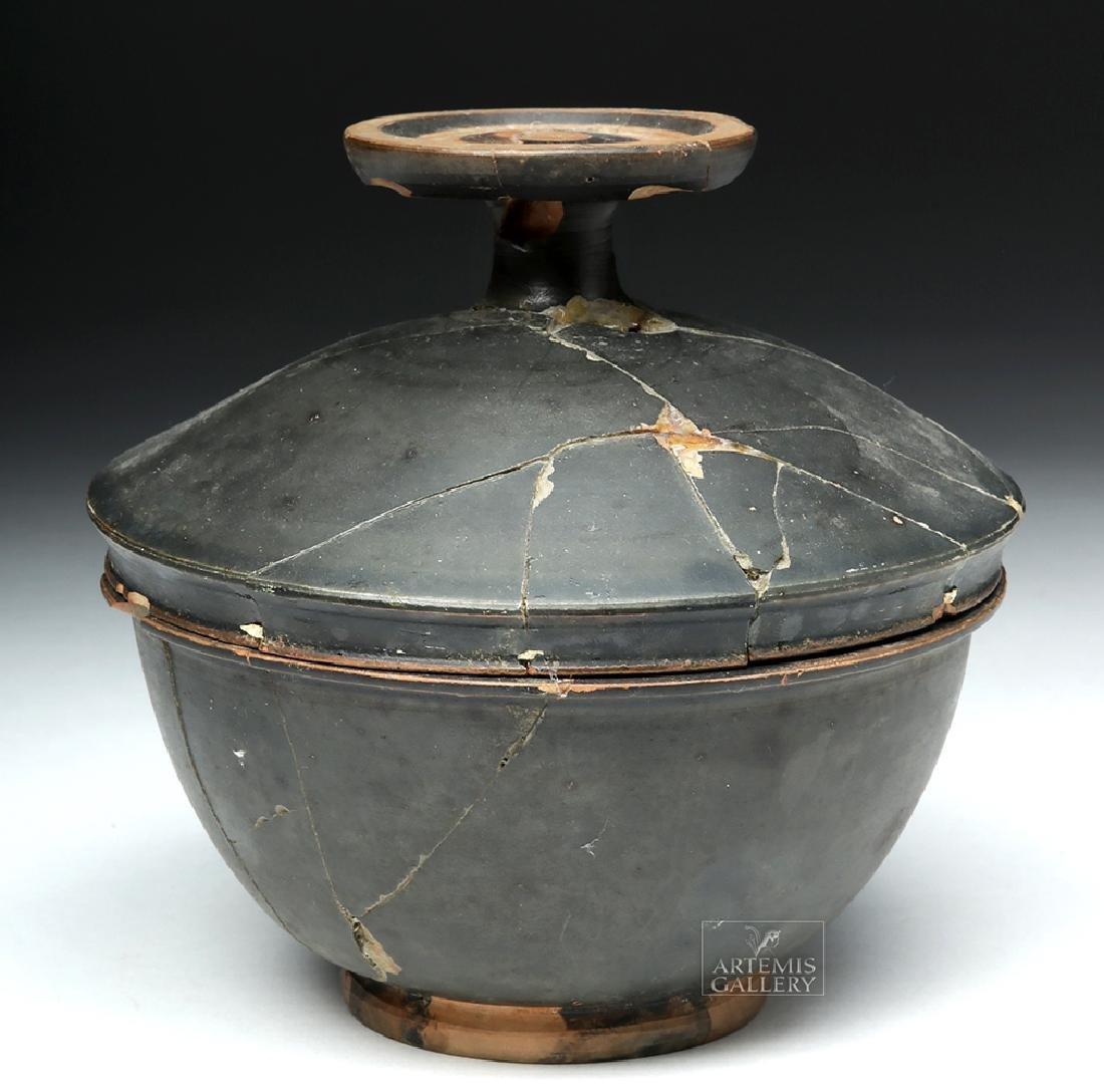 Greek Campanian Blackware Pyxis - 4