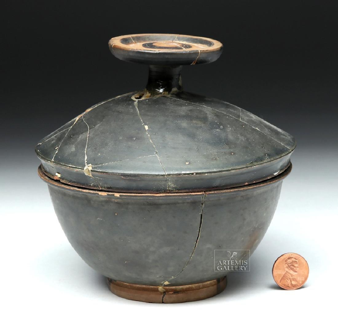 Greek Campanian Blackware Pyxis - 5