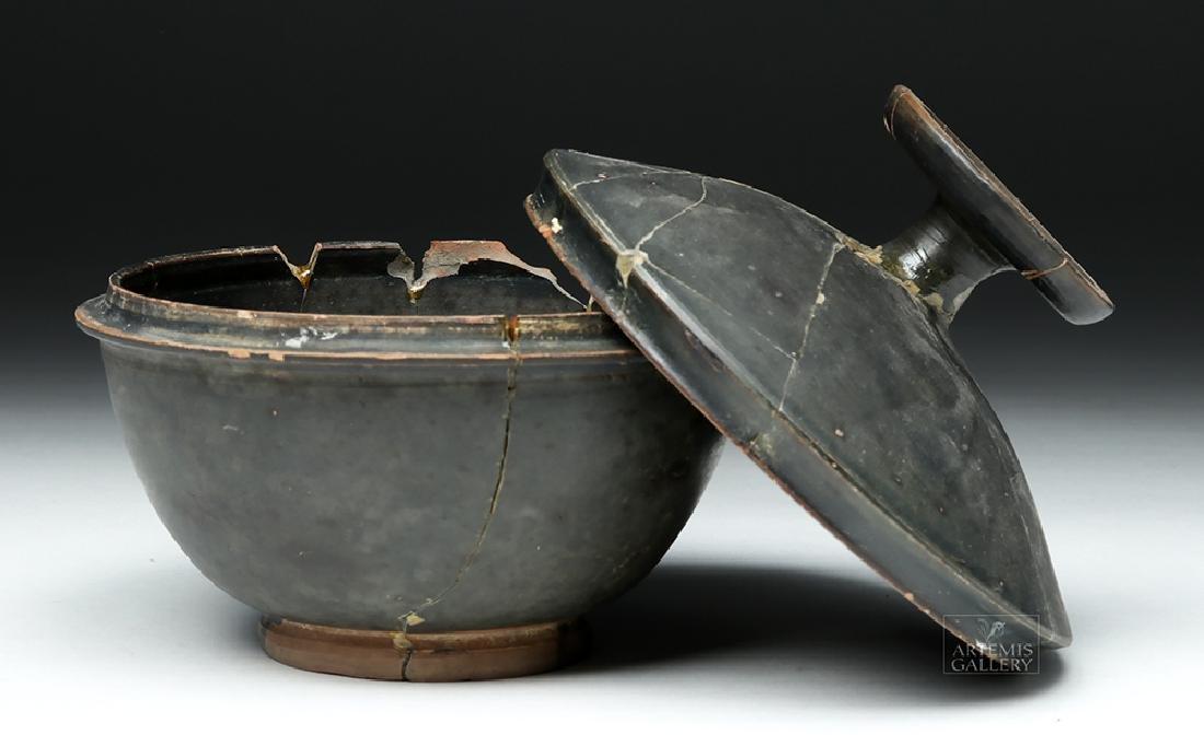 Greek Campanian Blackware Pyxis - 6