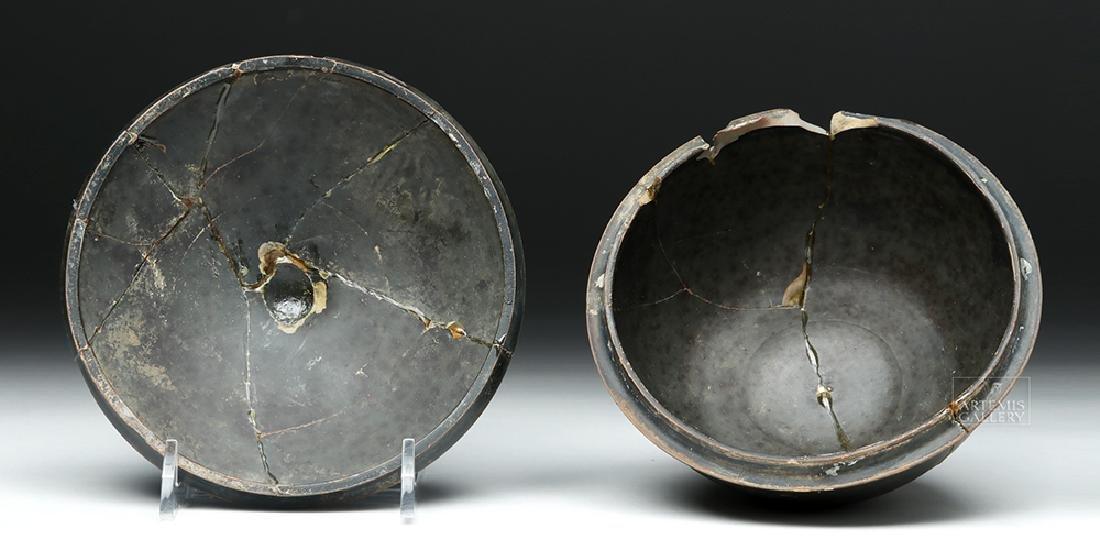 Greek Campanian Blackware Pyxis - 7