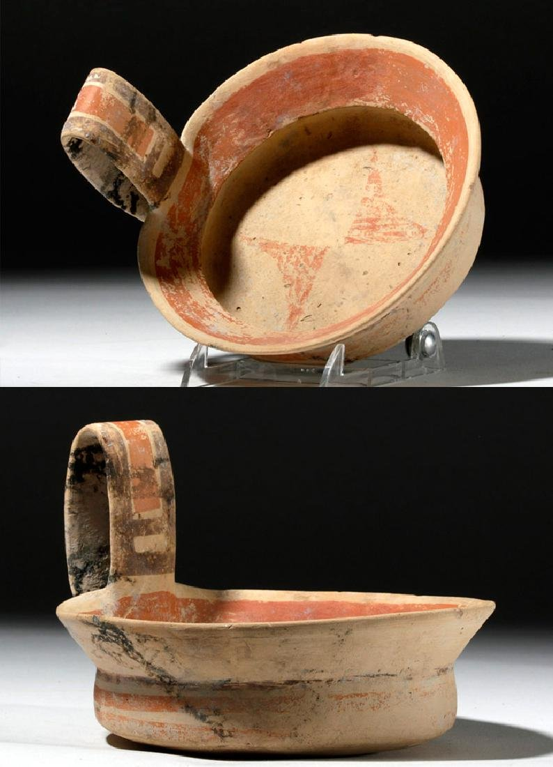 Daunian Polychrome Pottery Kyathos / Dipper