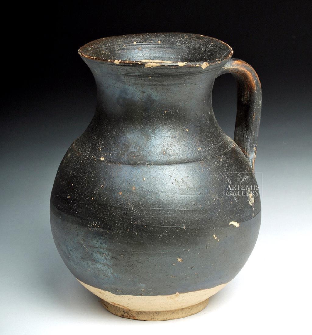 Greek Apulian Blackware Pottery Olpe