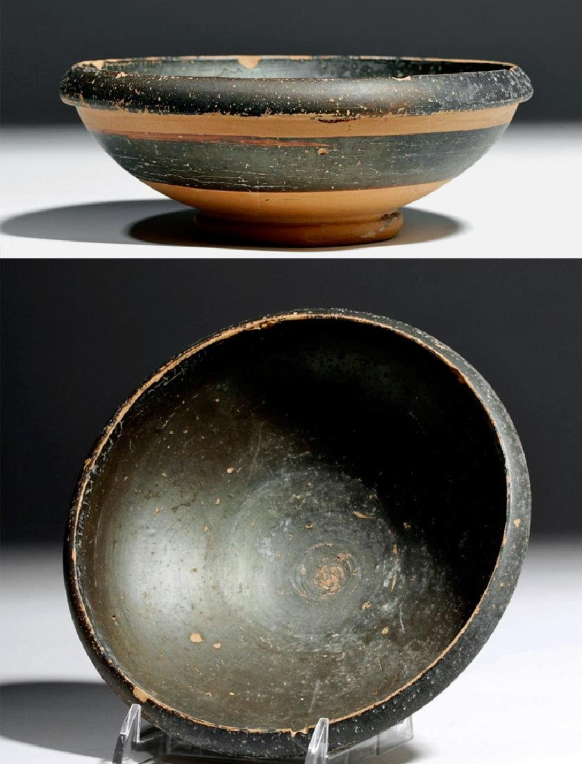 Greek South Italic Blackware Pottery Bowl