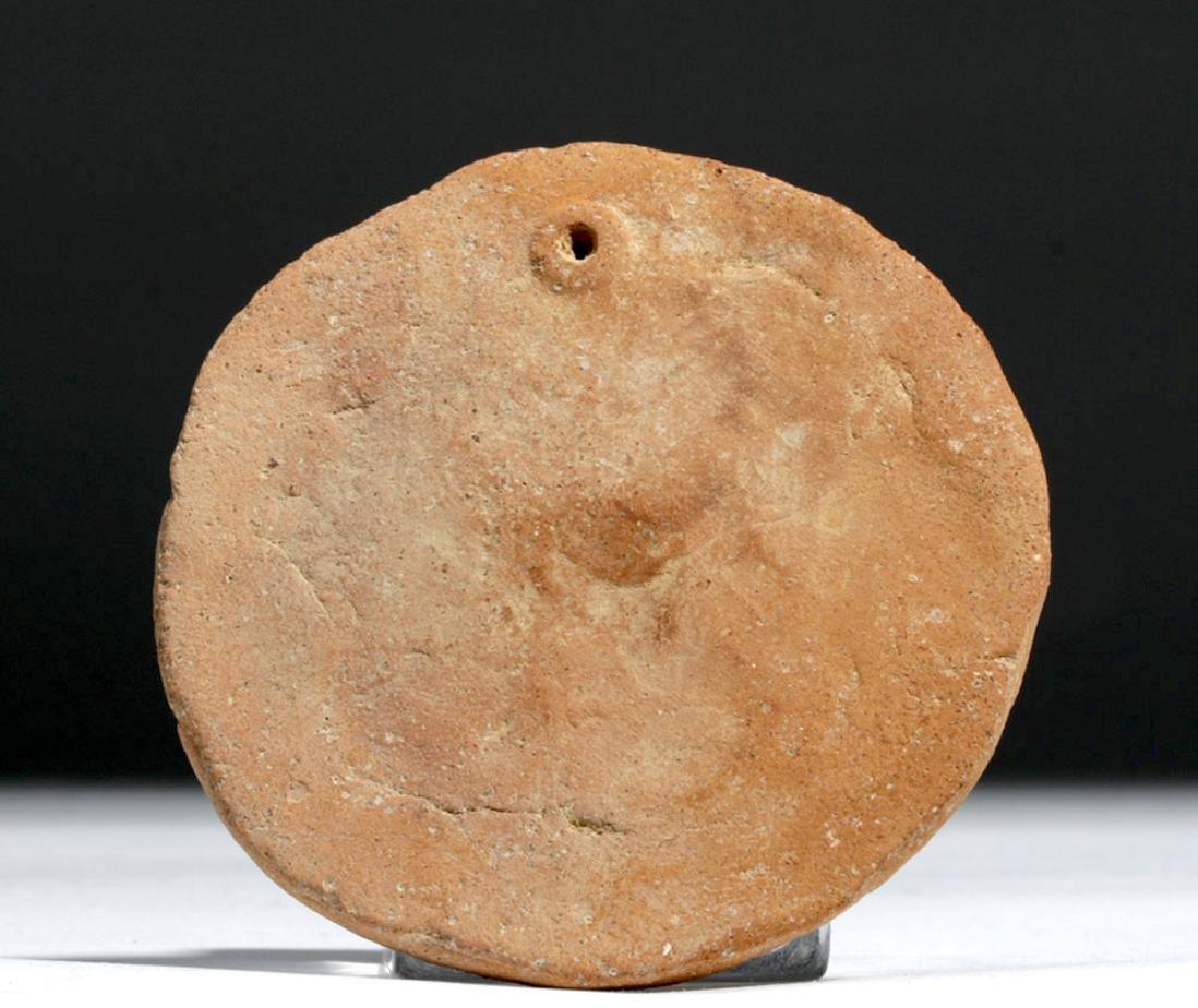 Greek Terracotta Votive Plaque w/ Athena - 3
