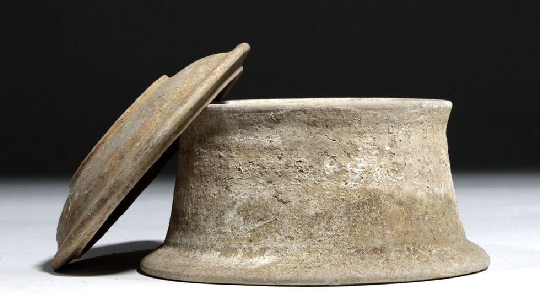 Greek Canosan Pottery Lidded Jar