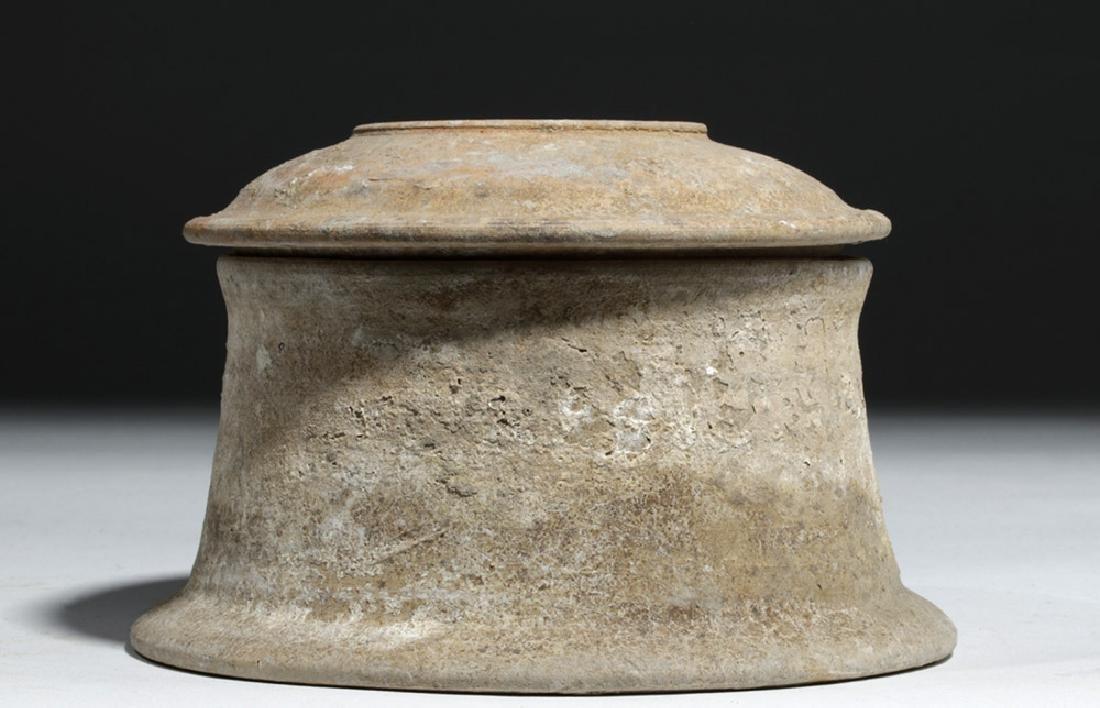 Greek Canosan Pottery Lidded Jar - 2