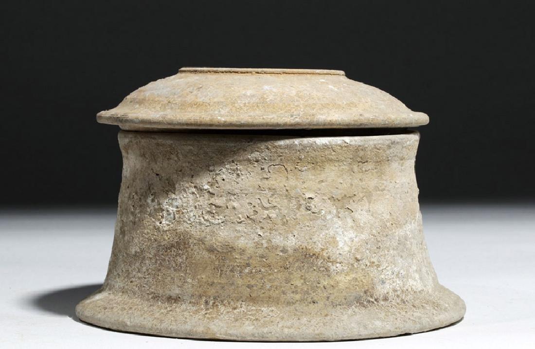Greek Canosan Pottery Lidded Jar - 3