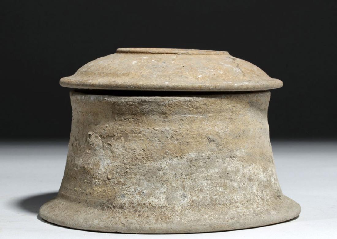 Greek Canosan Pottery Lidded Jar - 4