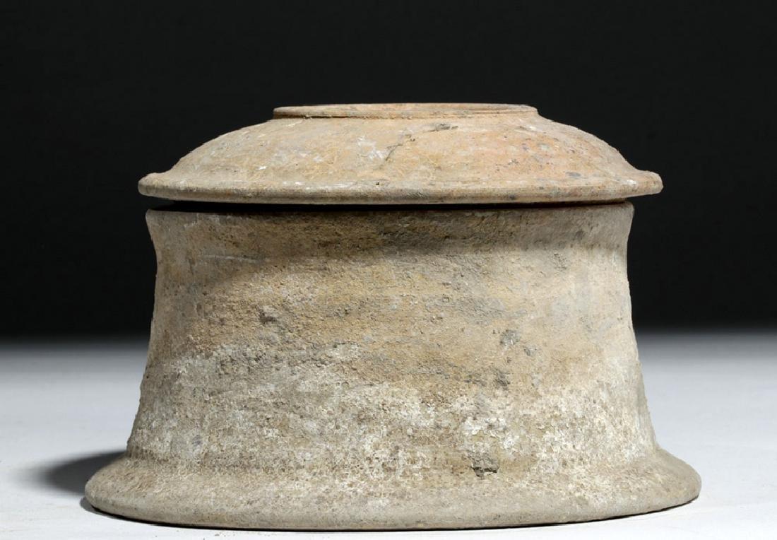 Greek Canosan Pottery Lidded Jar - 5