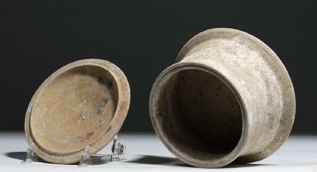 Greek Canosan Pottery Lidded Jar - 6