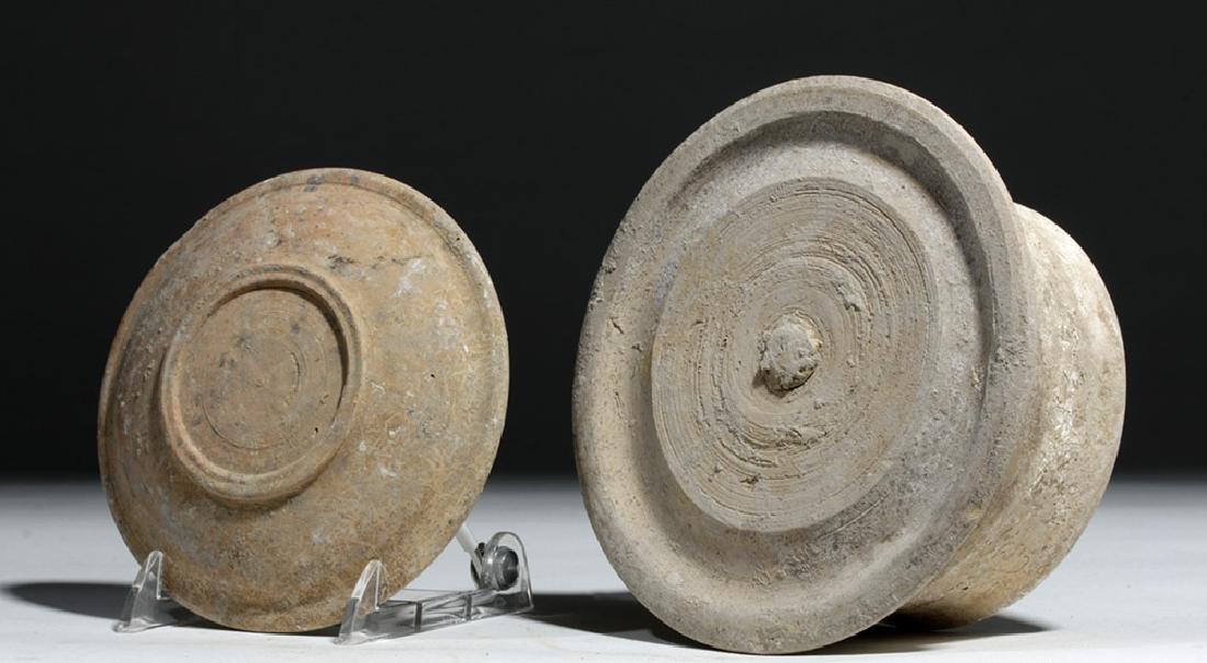 Greek Canosan Pottery Lidded Jar - 7