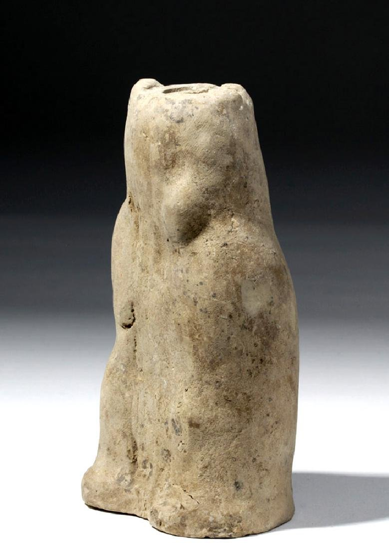 Greek Hellenistic Pottery Mold-Made Owl