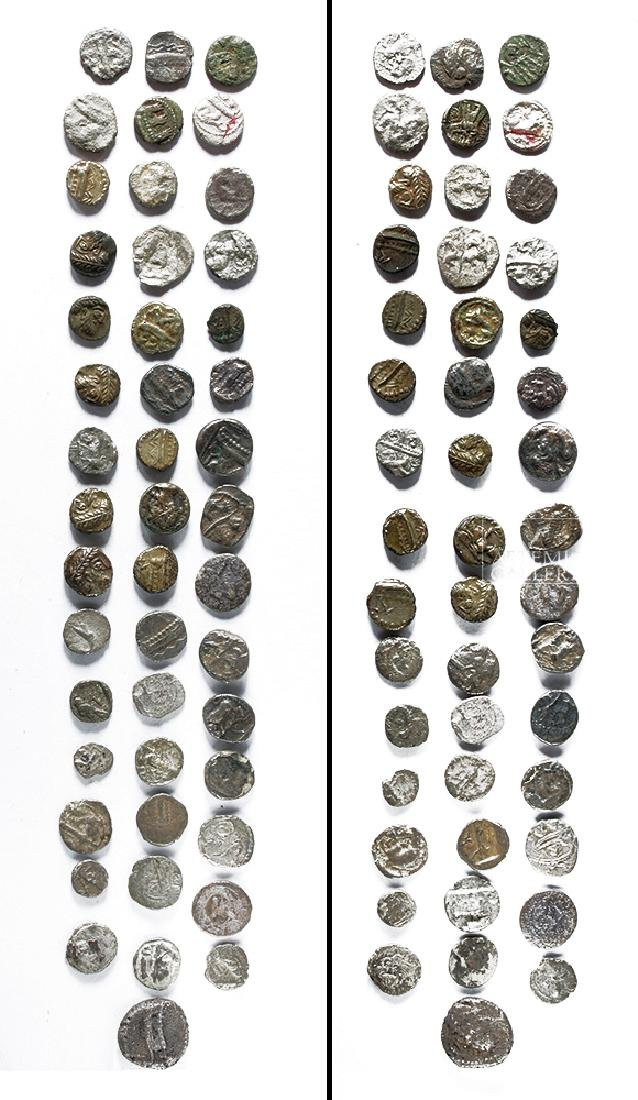 Lot of Forty-Six Mostly Phoenician Silver Obols