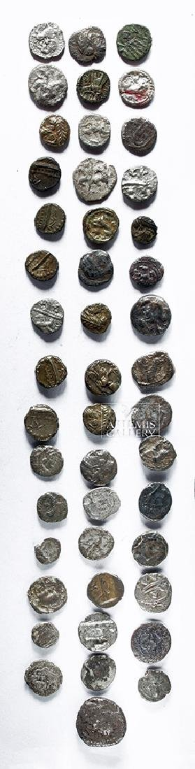 Lot of Forty-Six Mostly Phoenician Silver Obols - 2