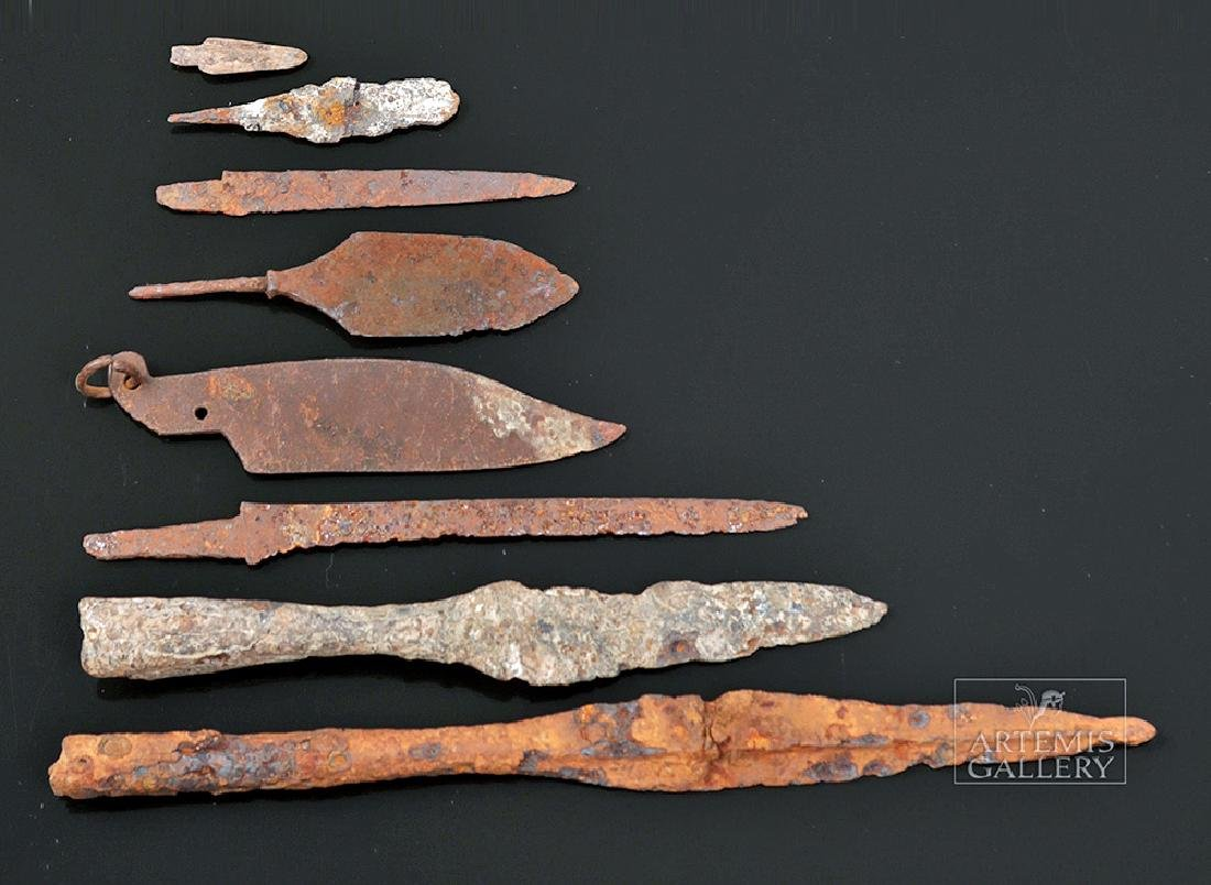 Eight Roman Iron Weapons