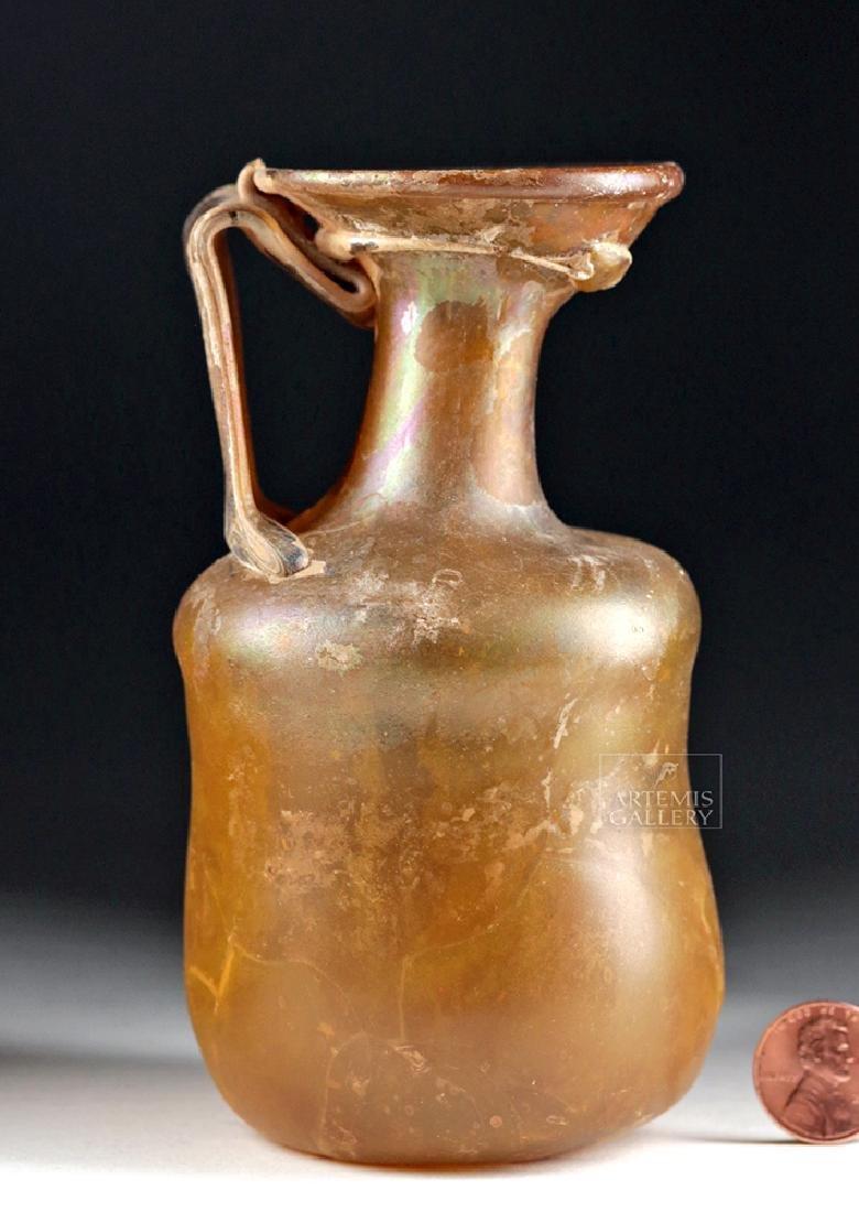 Roman Glass Jug - Beautiful Amber Hues