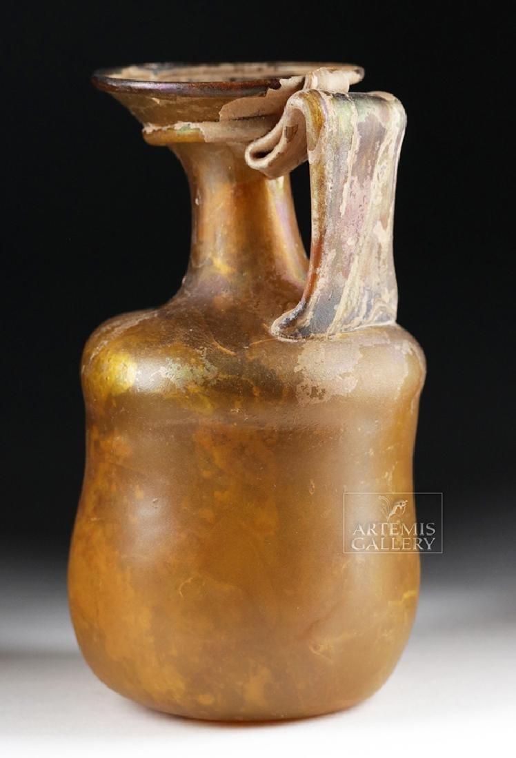 Roman Glass Jug - Beautiful Amber Hues - 3