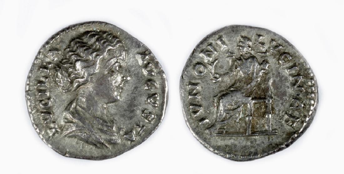 Roman Imperial Silver Denarius of Lucilla