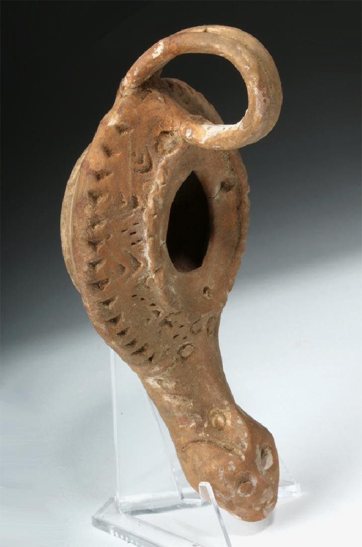 Roman Pottery Oil Lamp - Found in Turkey
