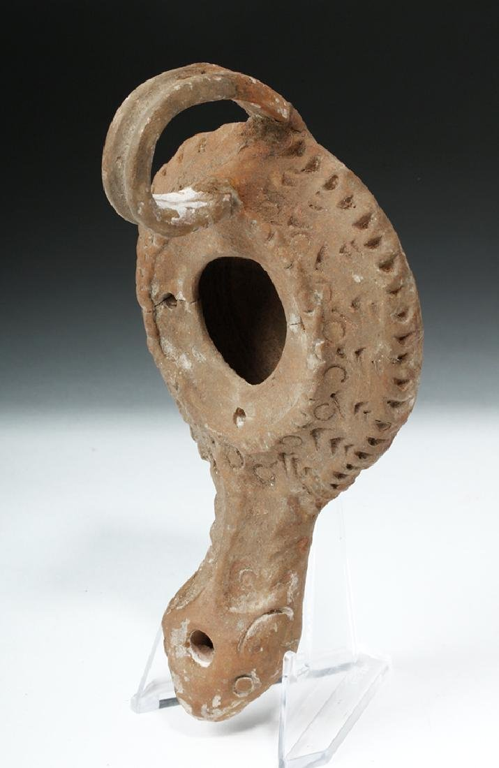 Roman Pottery Oil Lamp - Found in Turkey - 3