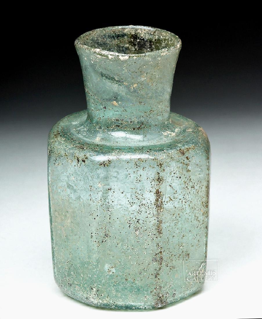 Late Roman / Early Byzantine Glass Octagonal Jar