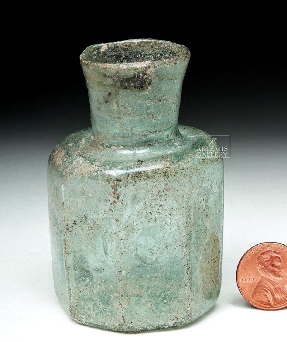Late Roman / Early Byzantine Glass Octagonal Jar - 4