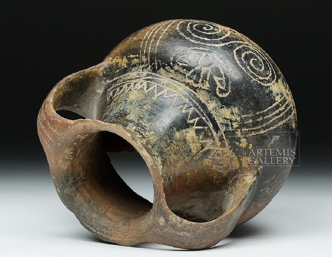 Villanovan Terracotta Amphora w/ Incised Lines - 6