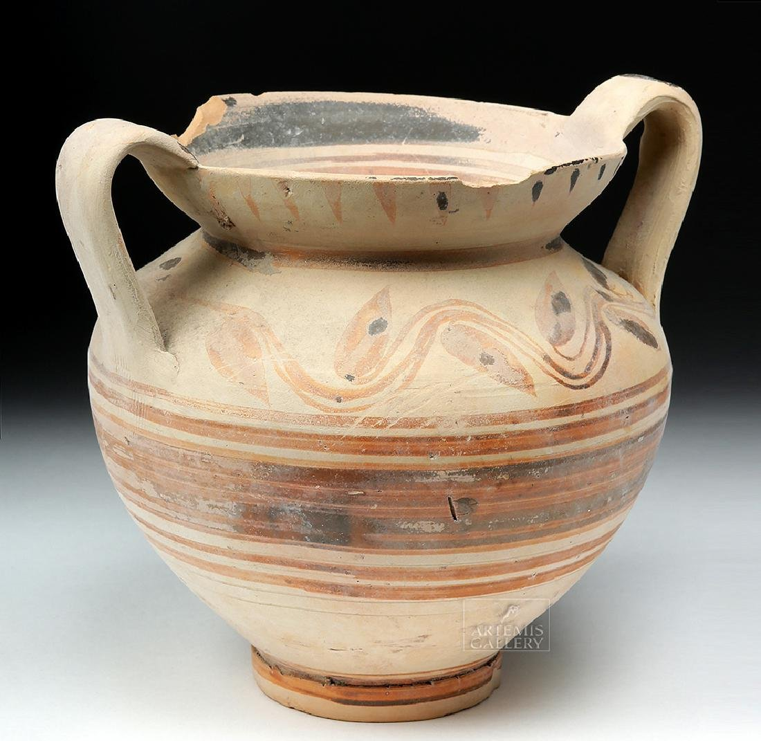 Greek Daunian Bichrome Twin-Handled Jar - 5