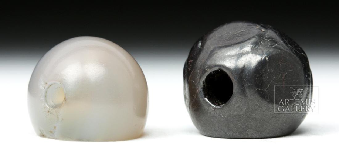 Pair of Fine Achaemenid Stone Seal Beads - 3