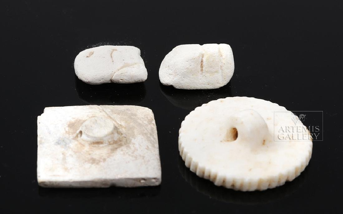 Indus Valley Ceramic & Shell Beads and Seals - 3