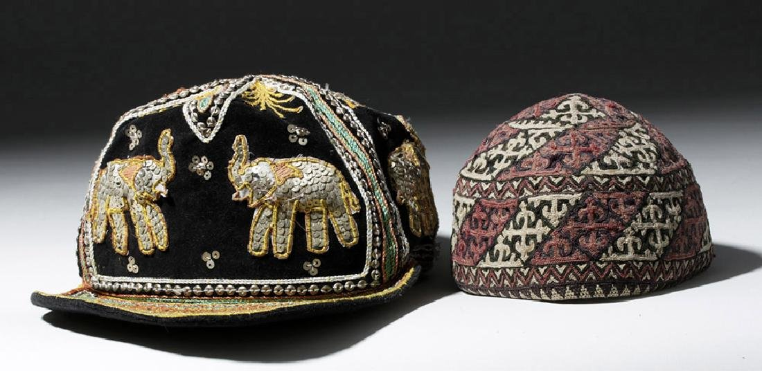 Fourteen 20th C. Assorted Ethnographic Hats - 2