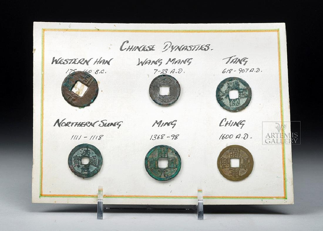 Six Ancient Chinese Bronze Coins