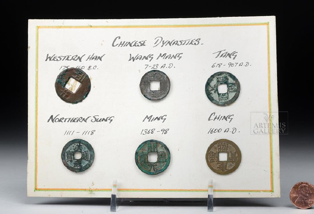 Six Ancient Chinese Bronze Coins - 6