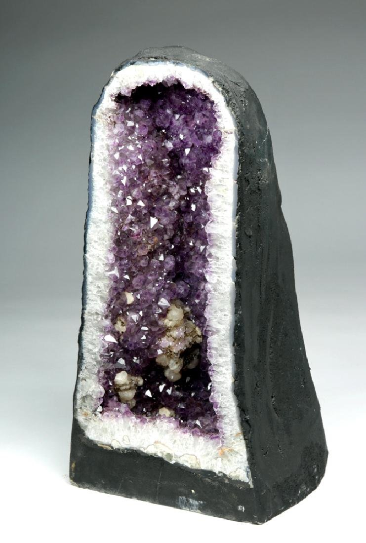 Large Brazilian Deep Purple Amethyst Geode