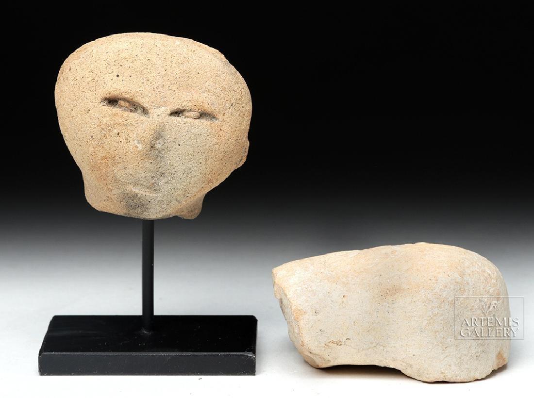 Guerrero Pottery Head & Roman Amphora Fragment