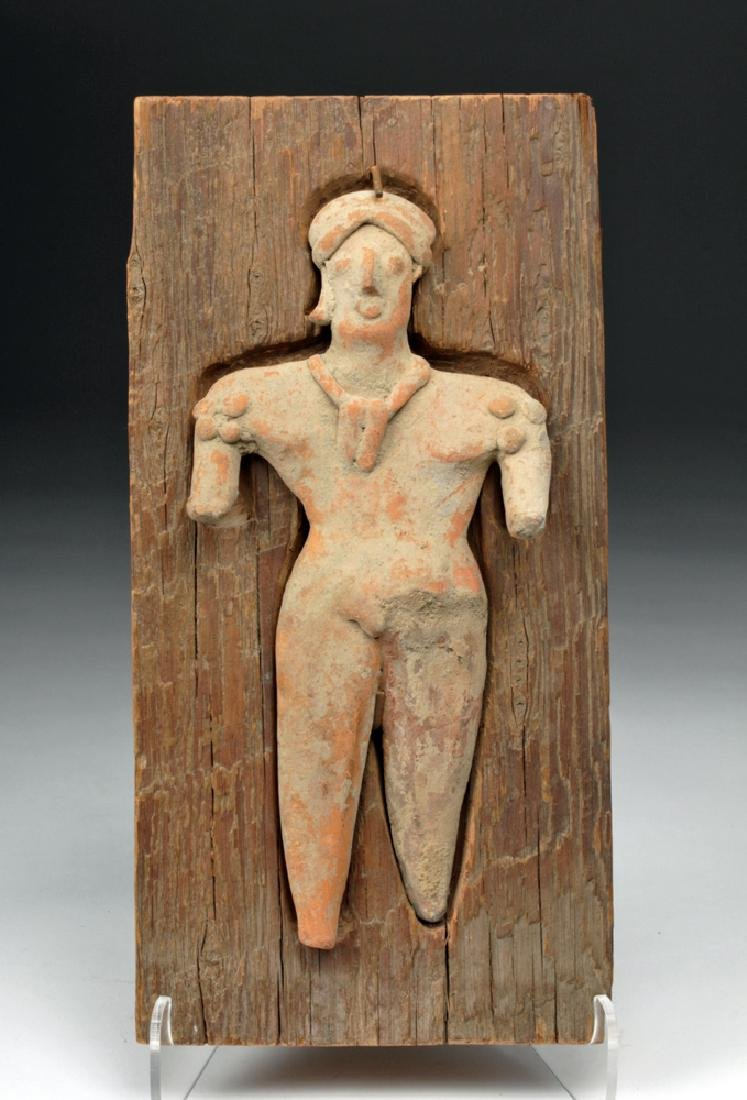 Colima Pottery Standing Figure - Female