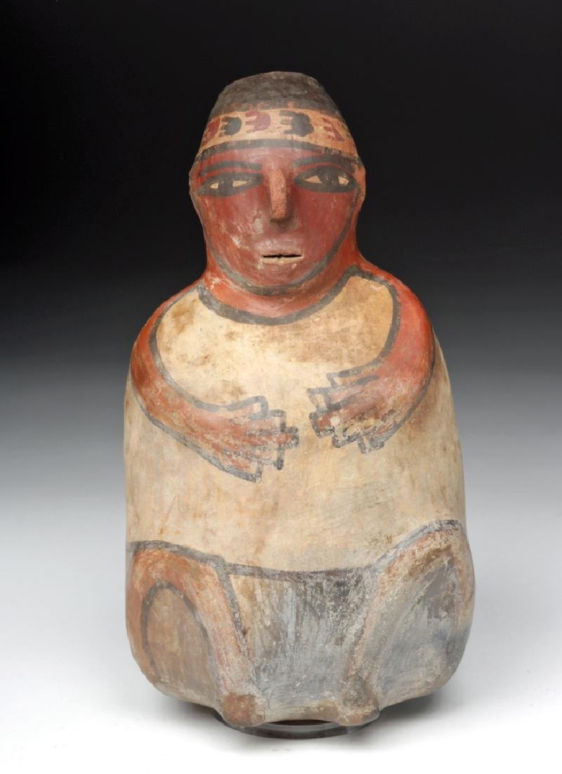 Nazca Pottery Polychrome Figural Vessel