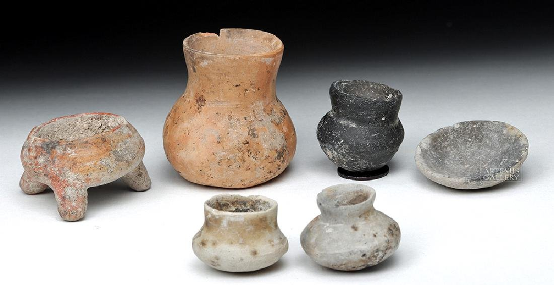 Sextet of Pre-Columbian Pottery Miniatures