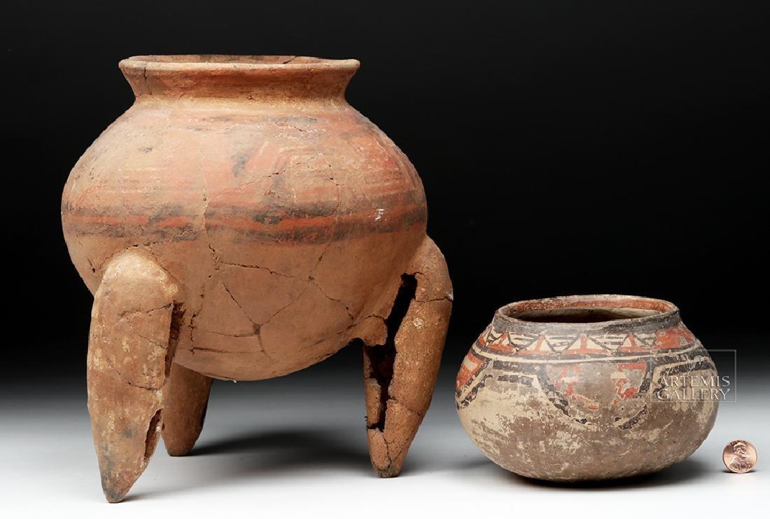 Pair of Costa Rican Terracotta Tripod Vessel & Jar - 4