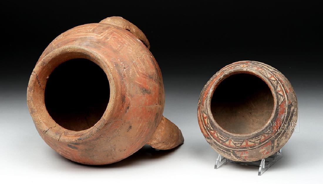 Pair of Costa Rican Terracotta Tripod Vessel & Jar - 5